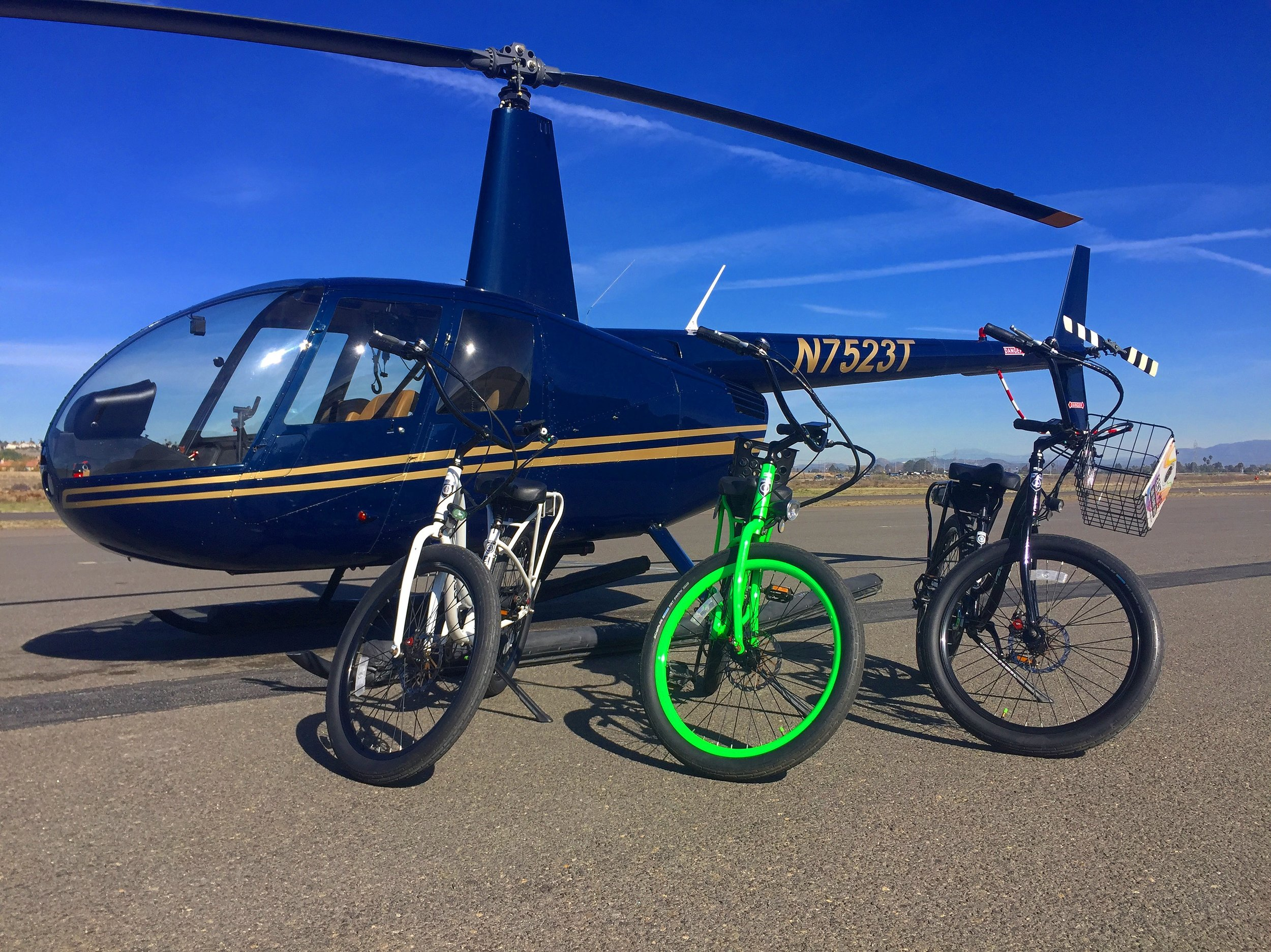 Bike and Helicopter Ride San Diego
