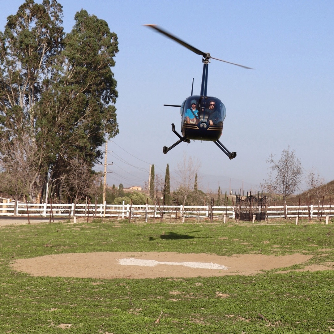 Temecula Helicopter Charter - Thornton Winery - Wine Tasting and Lunch
