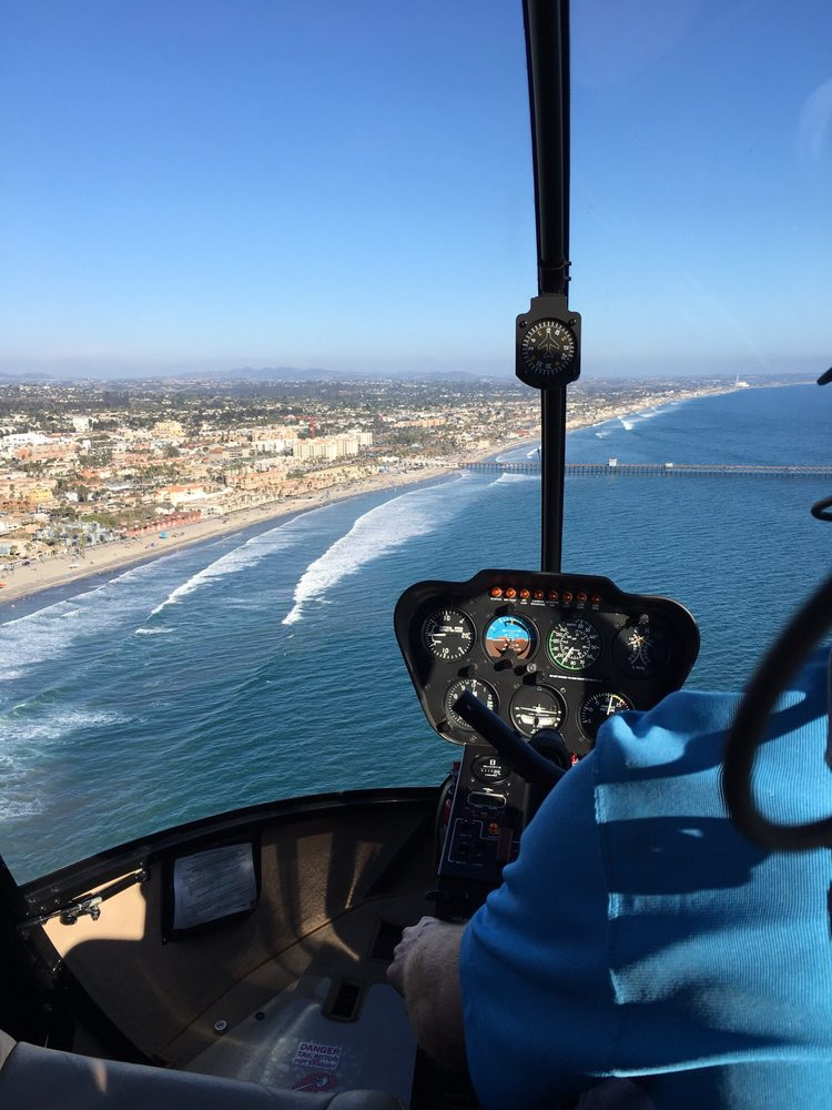 To begin your adventure, take an amazing helicopter ride along the San Diego County coastline! - Choose from a 15, 30, or 45 minute helicopter tour.