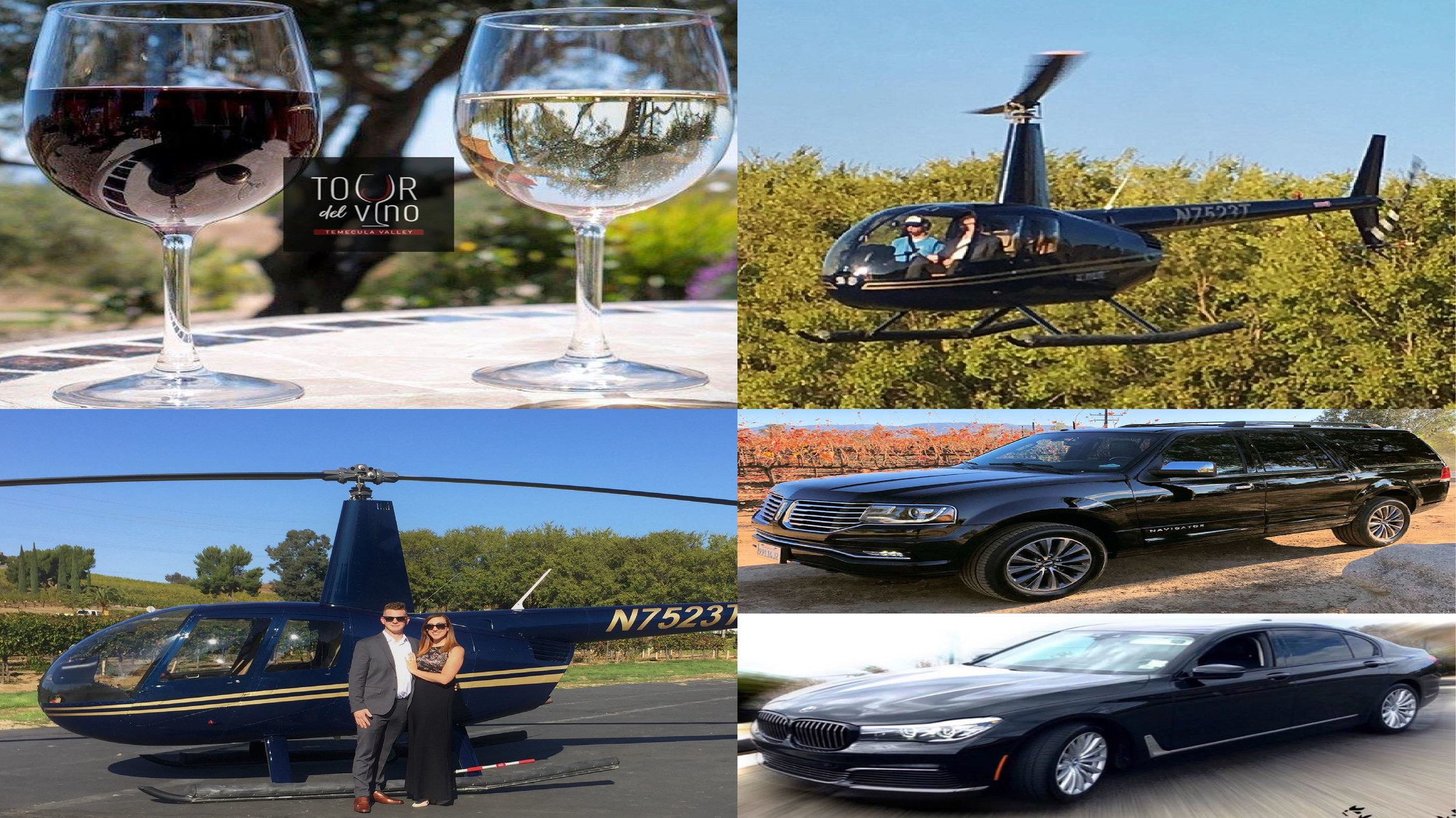 Temecula Wineries - Helicopter Charter and Luxury Transportation