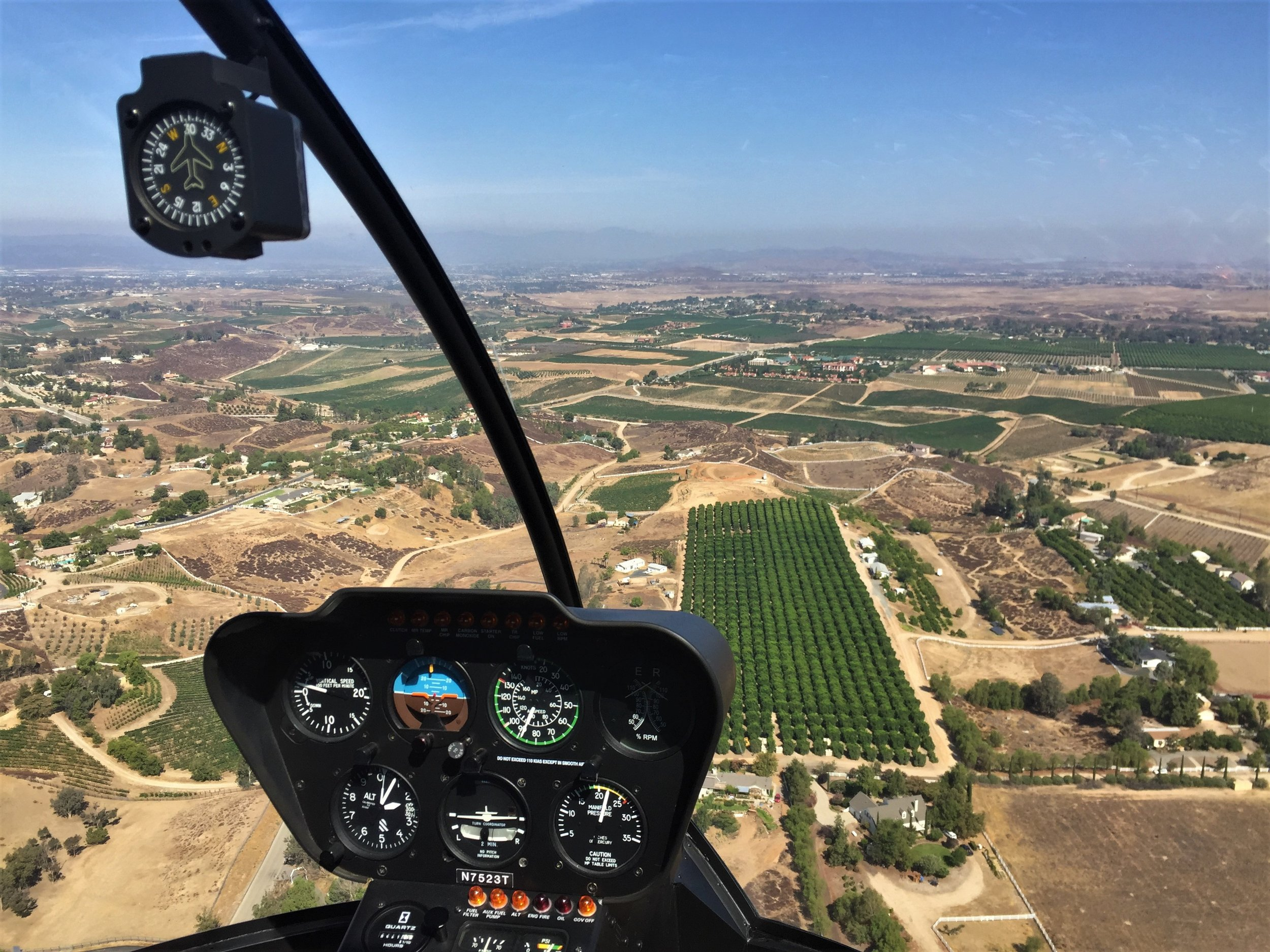 Enjoy the views of Temecula Wine Country on approach to land! -