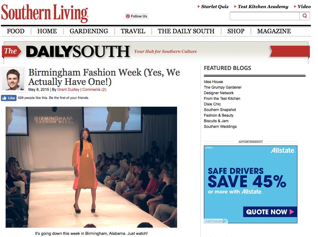 "SOUTHERN LIVING: BIRMINGHAM FASHION WEEK    ""   Birmingham Fashion Week (Yes, We Actually Have One!)   """