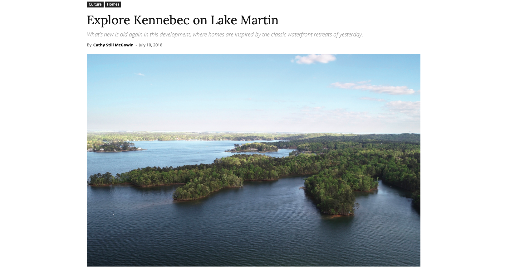 "Birmingham home & Garden     ""Explore kennebec on lake martin"""
