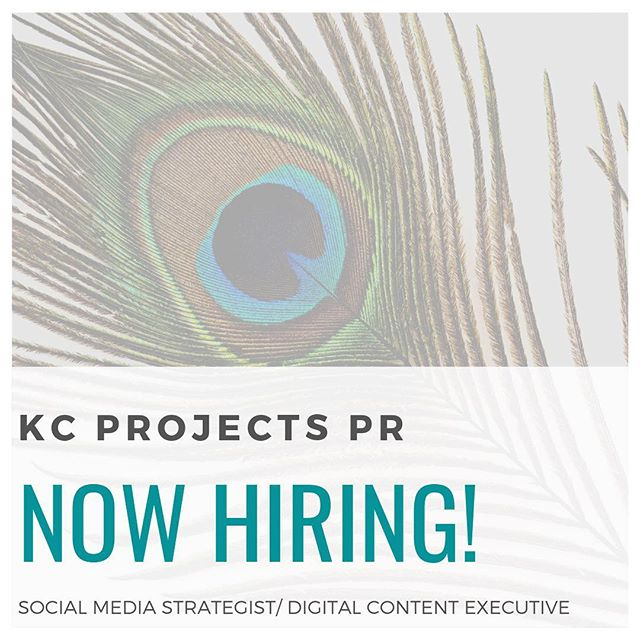 We are excited to announce that KC Projects is HIRING! KCP js seeking to hire a creative & strategic, 'out of the box' thinking individual that has a passion for public relations by influencing customer behavior across all social media channels. Responsible for management of multiple social media accounts and platforms. Click link in bio for the application!