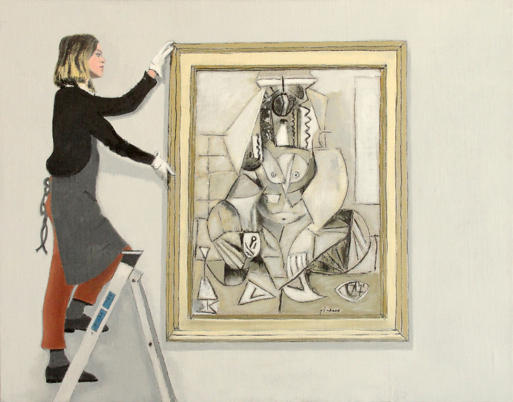 Sale of Picasso's  Femmes D'Alger 'L'  at Christie's  (2011), 11 x 14 in, oil on linen board