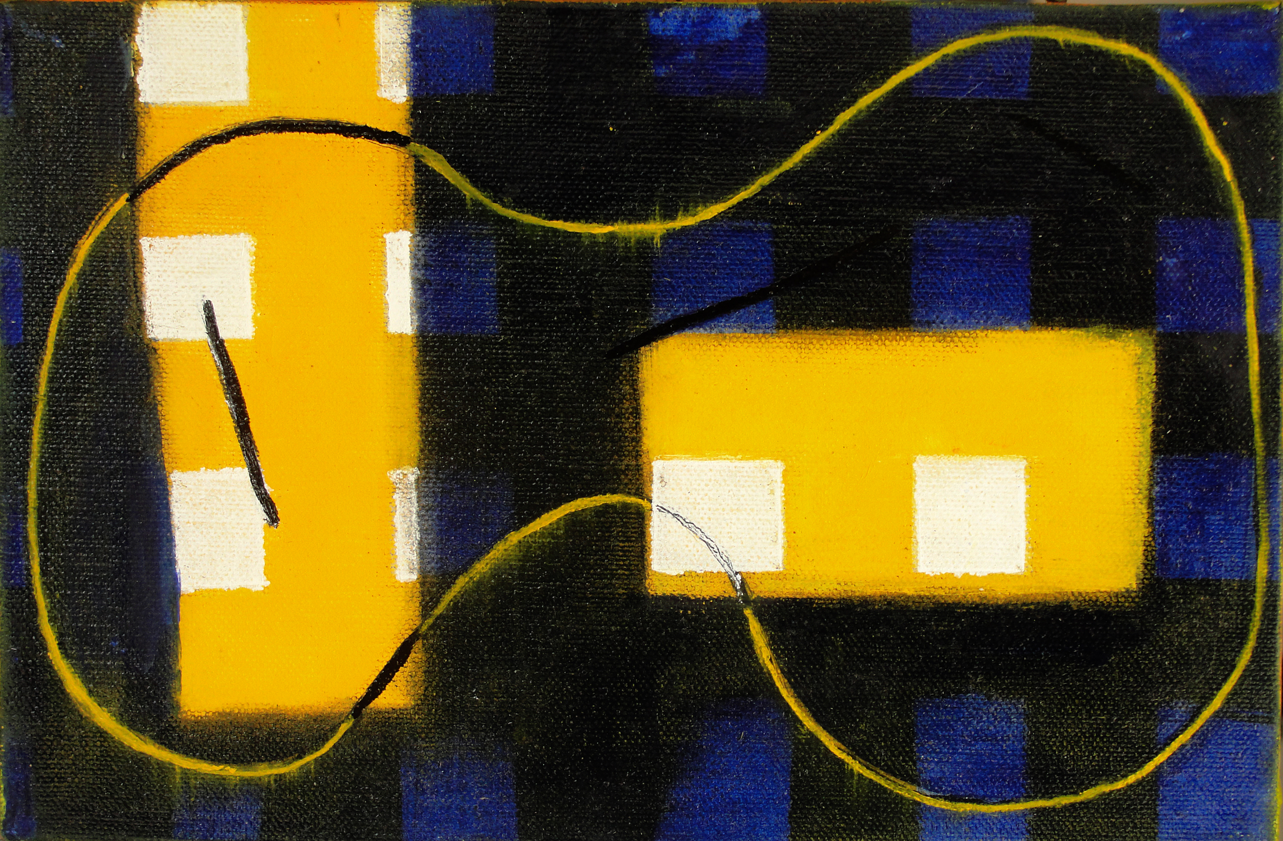Subdivisions 8 (2011), 6 x 9 in, oil on canvas
