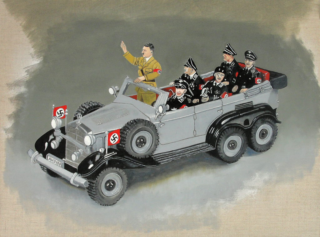 Hitler Staff Car  (2011), 18 x 24 in, oil on linen