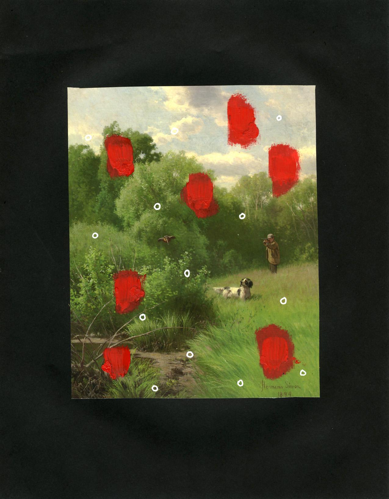 Huntsman  (2005), 11 x 8.5 in, mixed media on paper