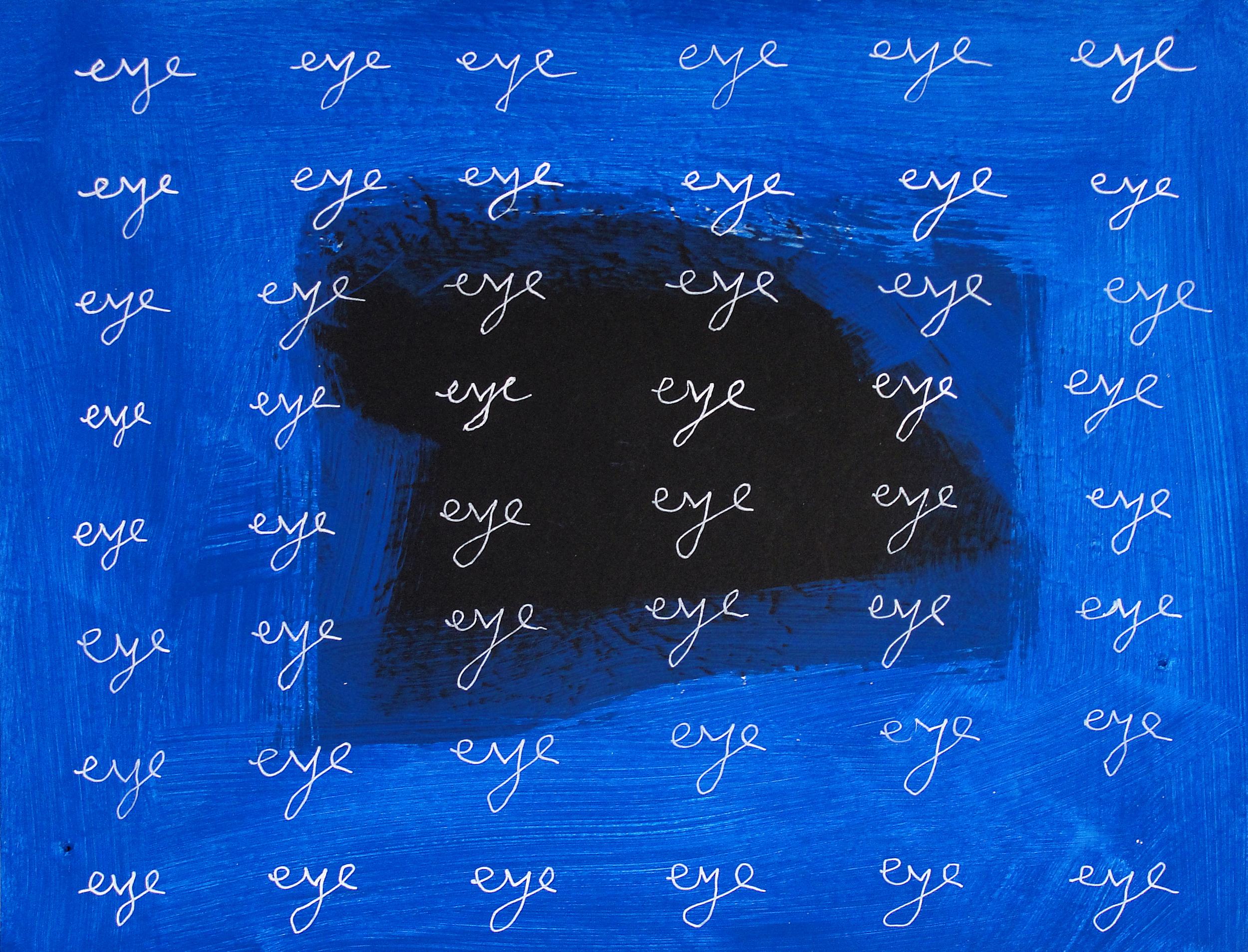 eye eye eye  (2013), 8.5 x 11 in, acrylic