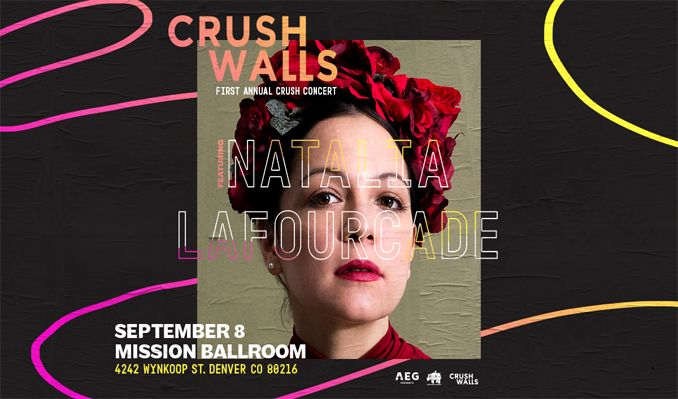 Join the RiNo Art District & CRUSH Walls in celebrating the First Annual CRUSH Concert ft. Natalia LaFourcade. Music, live art & more.