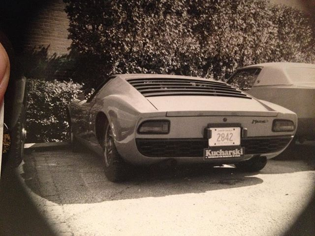 Dug up another #oldphoto . . . . . #classicaf #lamborghini #miura #p400 #miurap400 #whencarswerecars #classiccars #classiccar #vintagecar #original #italian #supercar #originalsupercar #bertone #carguy #patina #barnfindmiura #barnfind #drivetastefully #everycartellsastory #nostalgic #nostalgia #eyelashes #v12