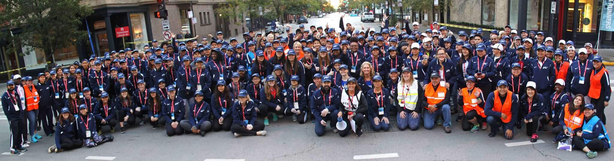 2019 Bank of America Chicago Marathon Aid Station 09 Volunteers    DATE: 10/13/2019 SHIFT: 5:30am to 12:30pm   LOCATION:  Aid Station #09 located on the corner of Wells St. Btwn Grand Ave and Hubbard st. It is Mile 11.8 of the Chicago Marathon course.  We welcome all genders, sexualitites and STUDENTS 16 years and older to volunteer!