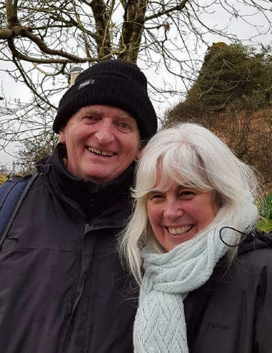 Marcus Mason and Sue Weaver at Cornwall Holy Well on Sacred Journey