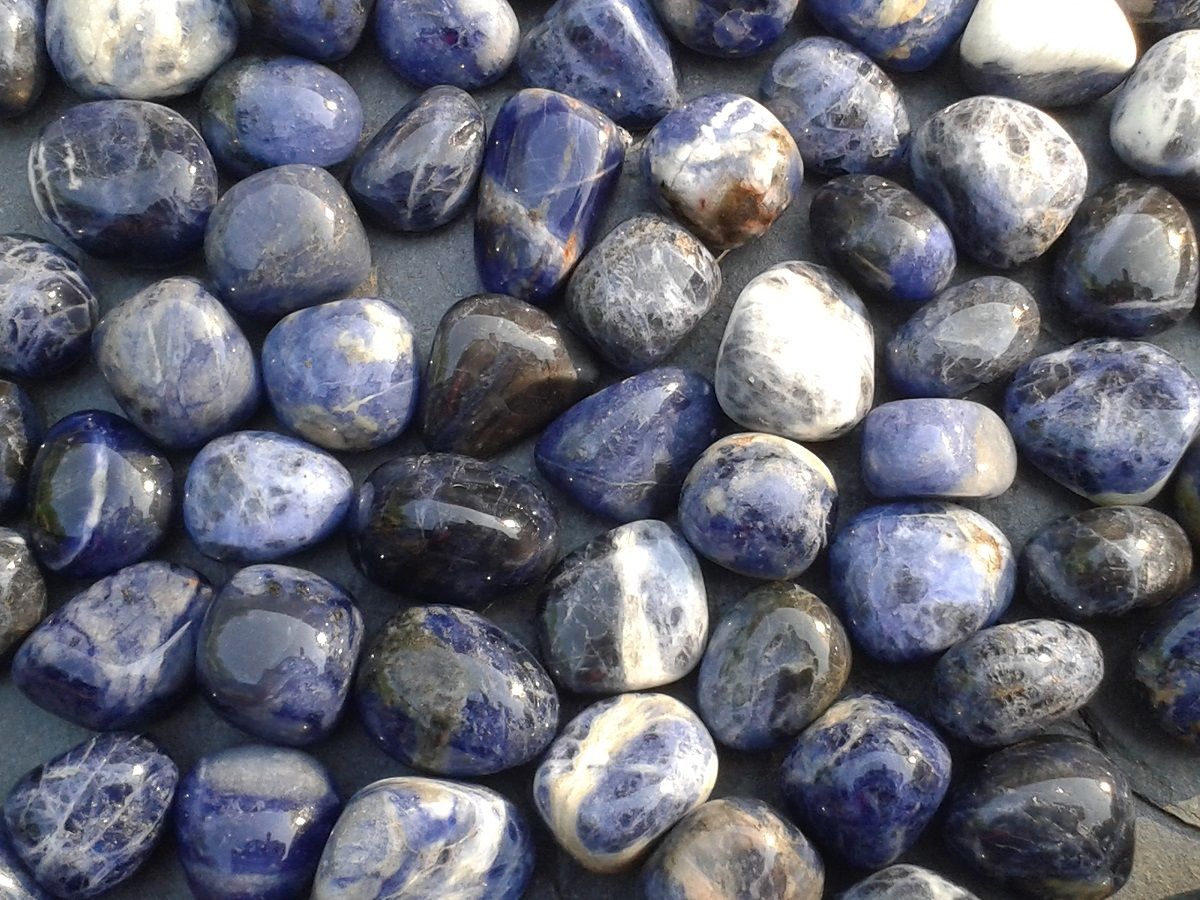 SODALITE - very calming, to step back and see the bigger picture