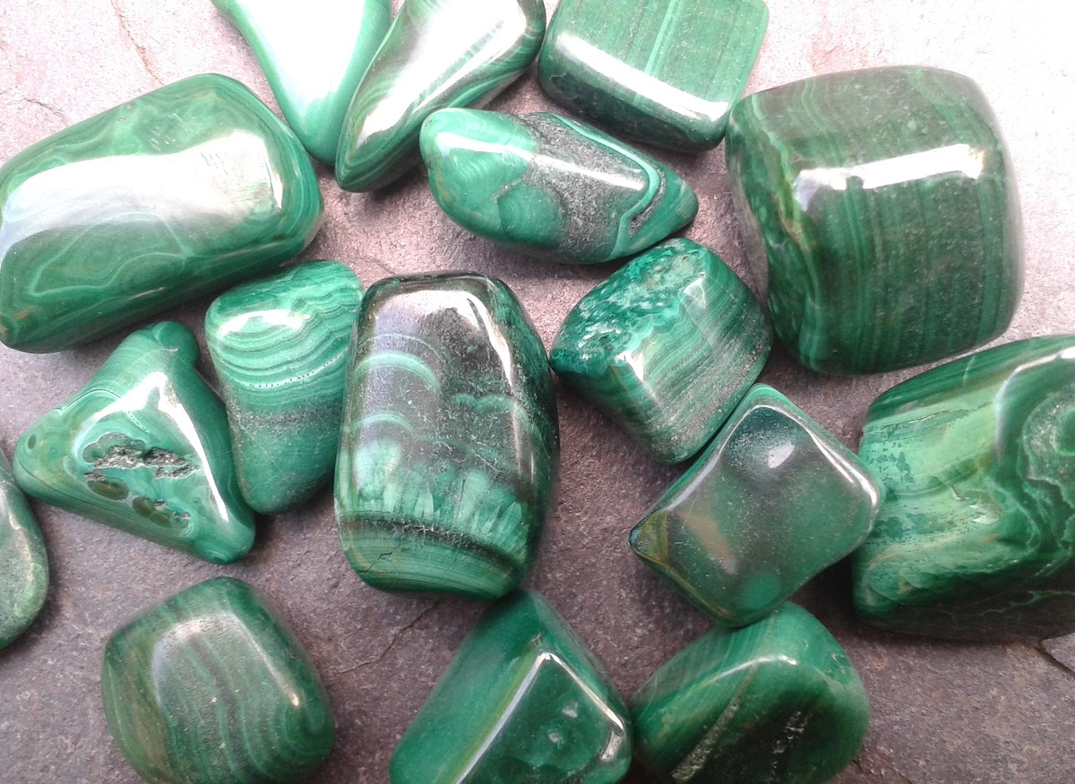 MALACHITE - for joint pain and deep, stuck emotion