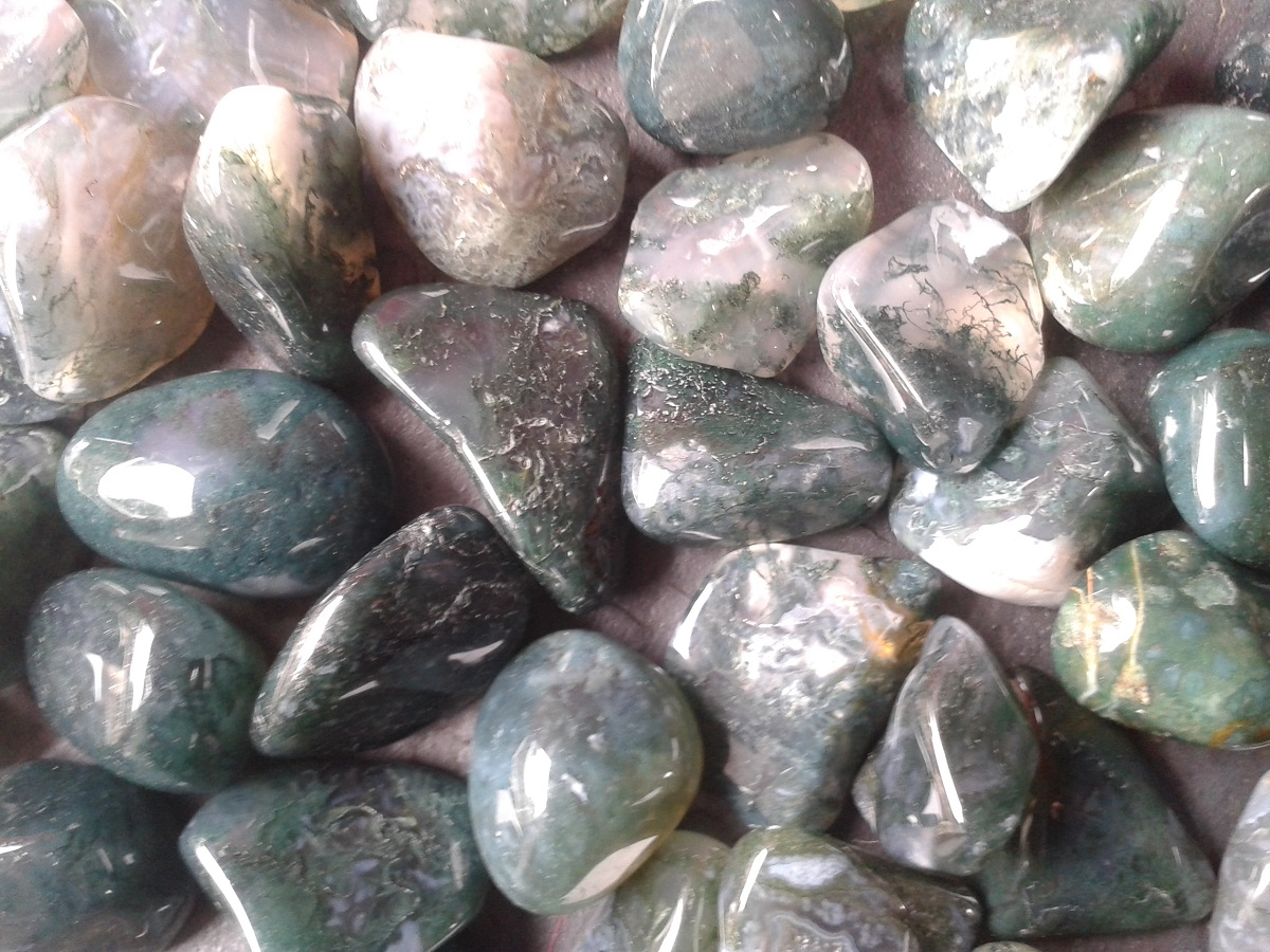 MOSS AGATE - nature connection, for gardeners