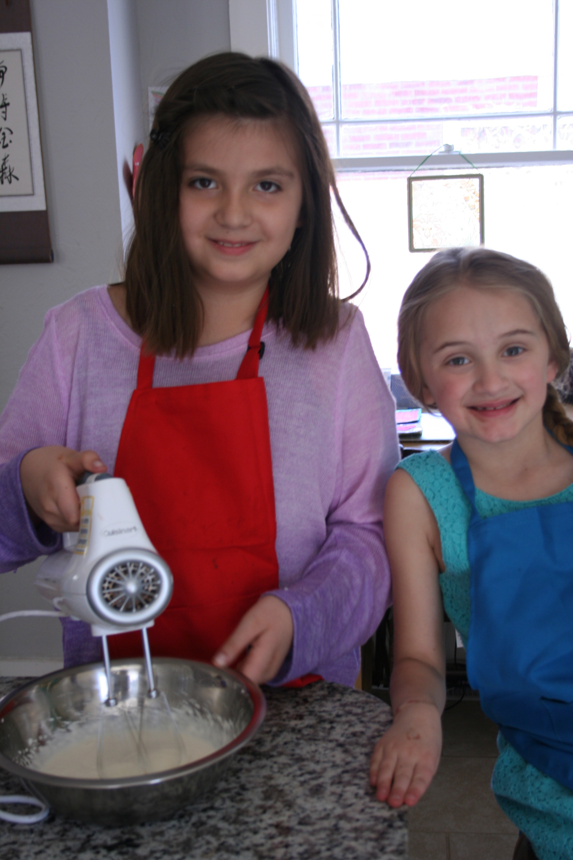 Whipping up some whipped cream!