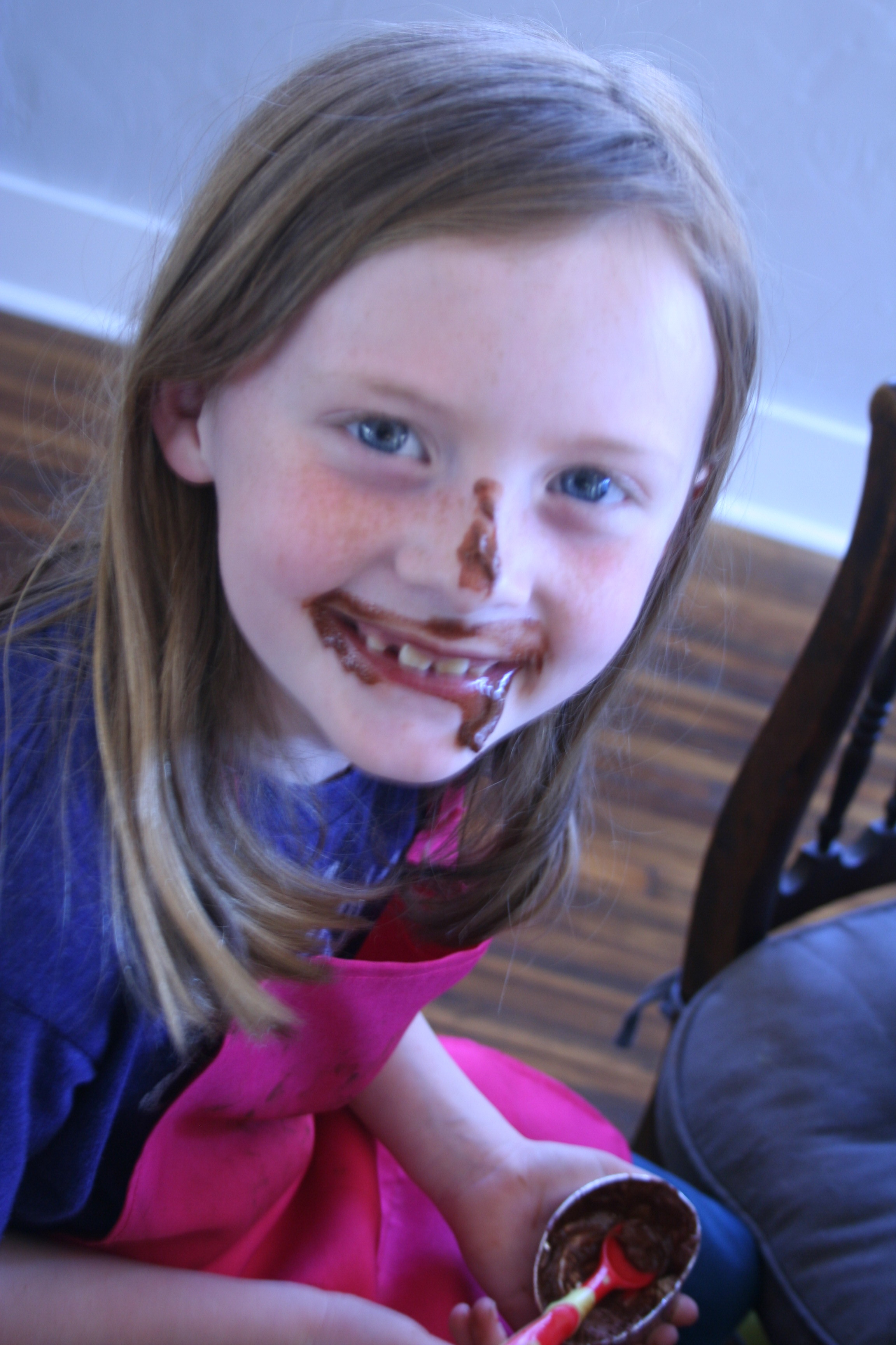 Lily really enjoyed her chocolate creme cup. ;)