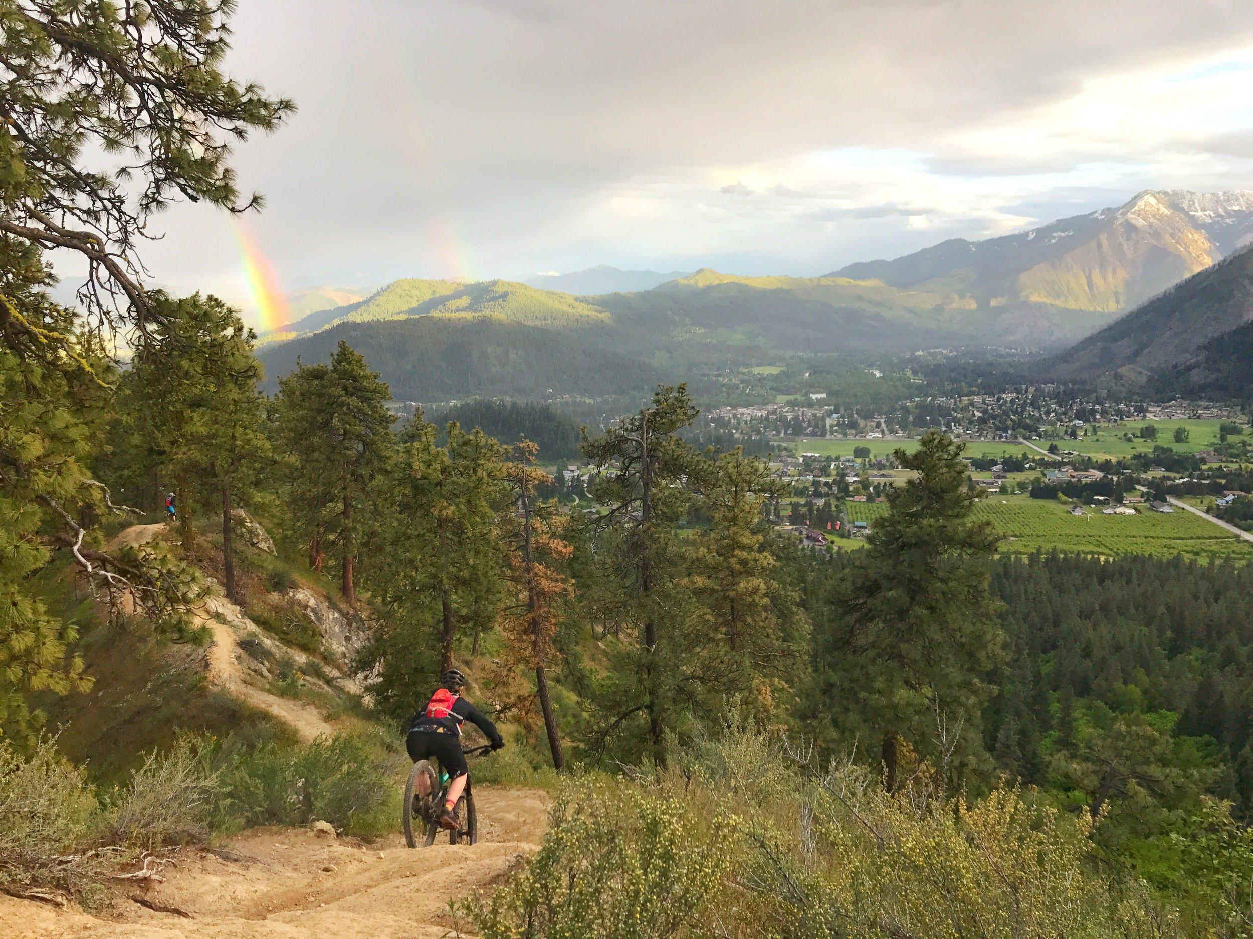 Leavenworth—Bavarian village, mountain biking & skiing mecca, cabbage salsa hotspot