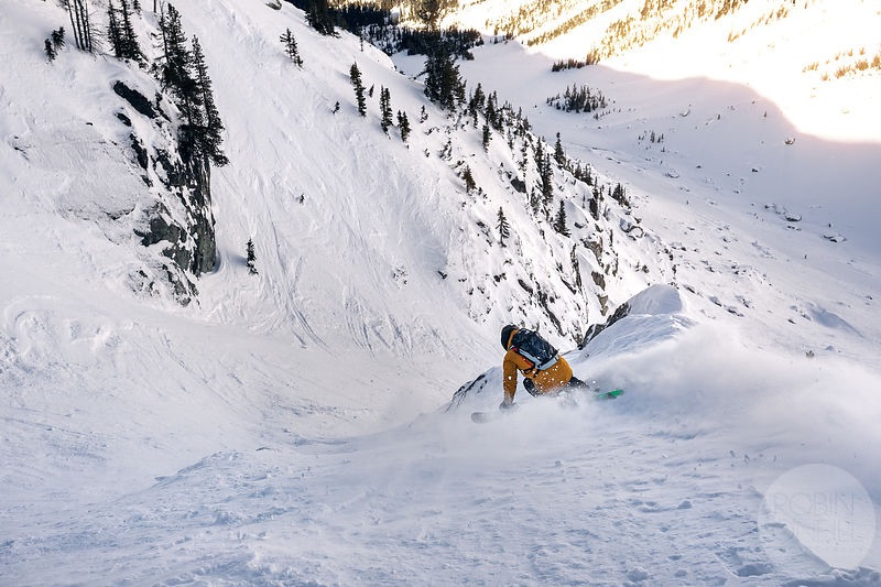 Even hardpack is fun skiing when it's mom's ski time! Photo: Robin O'Neill/ Whistler