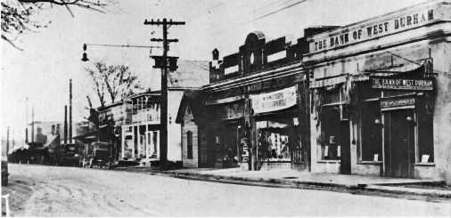 McDonald's Drug Store storefront, circa 1920. Photo credit: Open Durham