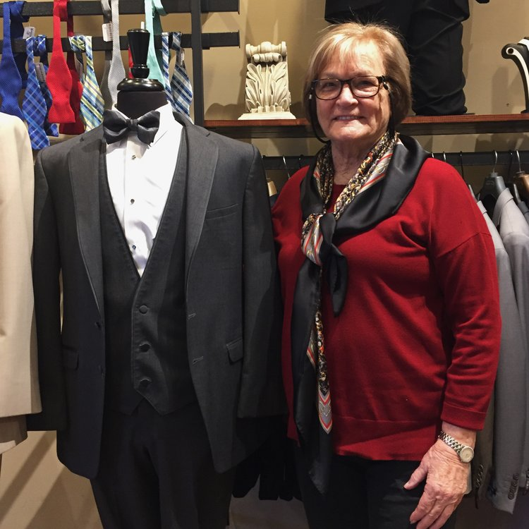 Jean Lorenzo, owner of Bernard's Formalwear and the first merchant featured in the Merchant of the Month series.