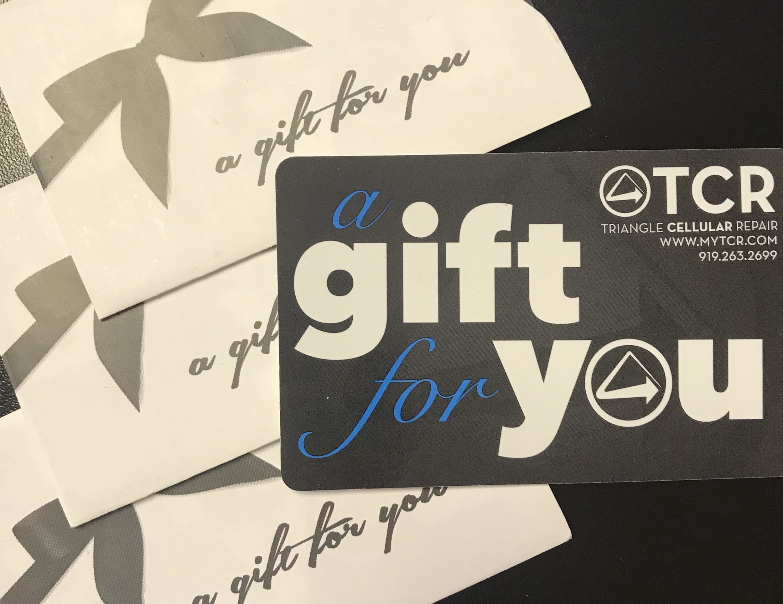For the college student: - From Triangle Cellular Repair, a gift card for that friend who is always dropping their phone. Gift cards are good for anything in the store, from repairs and devices to accessories and cases. Great for college students!