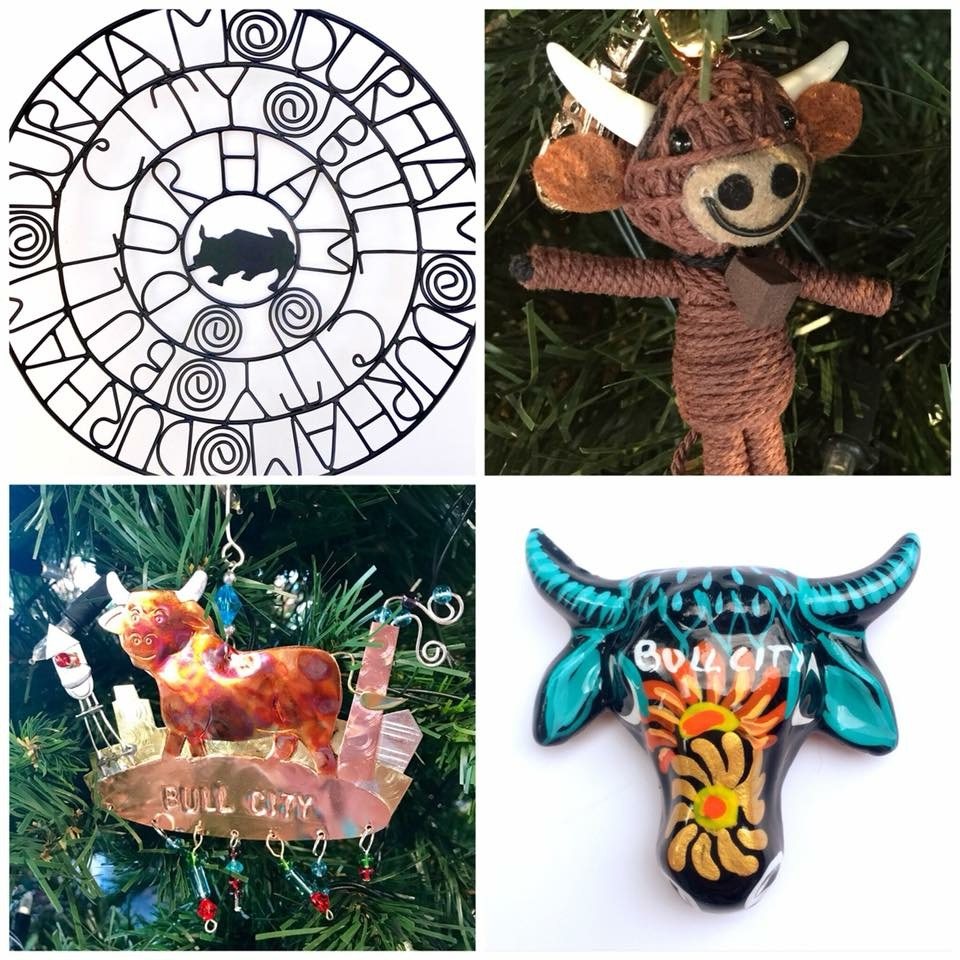 For the Durhamite: - From One World Market, great gifts inspired by our own Bull City! Handmade by talented artisans in India, Mexico, & Thailand, your Durhamite is sure to smile when unwrapping one of these unbelieva-bull presents! Great for locals or for friends from afar who love to visit.