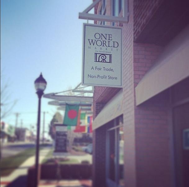 Sidewalk outside One World Market