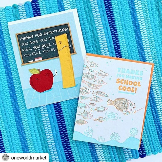 As you're celebrating moms and grads this week, don't forget TEACHERS!! It's Teacher Appreciation Week (but really should be Teacher Appreciation Forever). Pick up one of these cards to show your gratitude for these #everydayheroes 👨🏫👩🏫 #Repost @oneworldmarket • • • • • Happy Teacher Appreciation Week! Take a minute this week to show some love to the teachers who have made a difference in your life. Teachers, show us your school badge today-Friday and take 15% off your entire purchase! #teacher #thankyou #teacherappreciationweek #yourock #education #everydayheroes