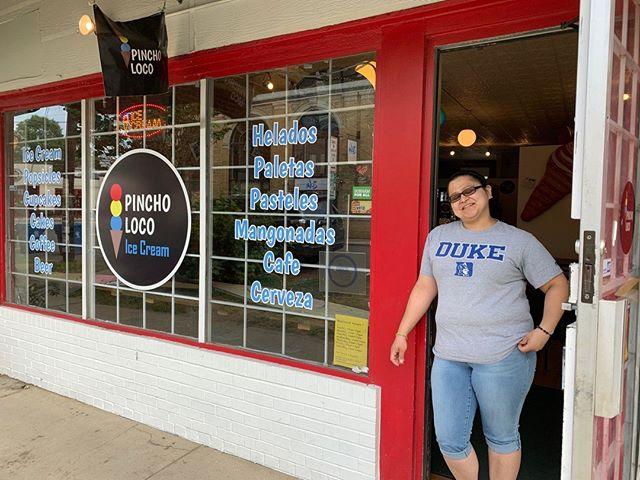 "Our latest Merchant of the Month features Martha and Luis Morales of @pincho_loco! Learn how their upbringing in El Salvador and life in Durham inspires their ""American South meets Latin America"" approach to ice cream. Warning: this story may cause intense cravings for frozen treats. 🍧"