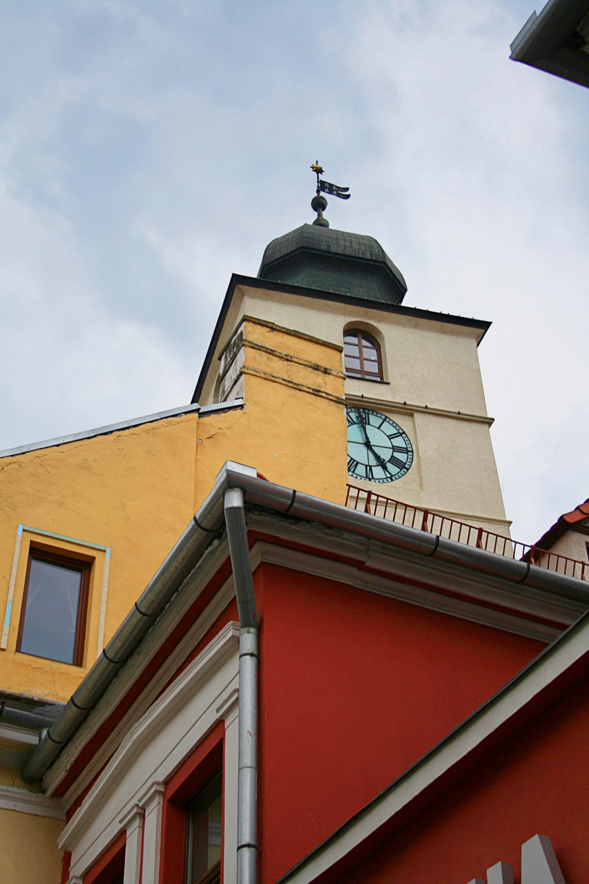 Clock Tower in Piata Mare