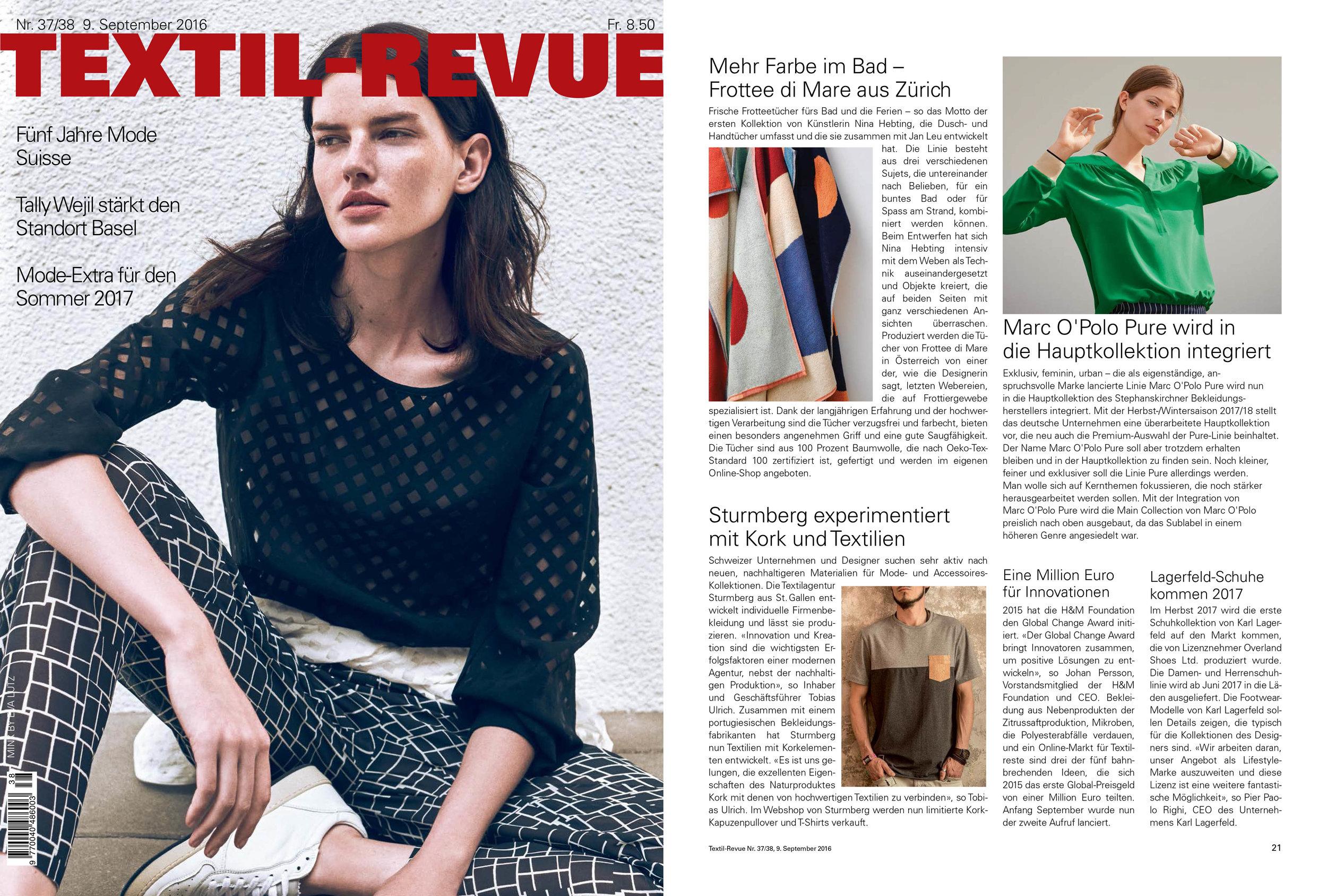 Textil-Revue – Sept. 2016