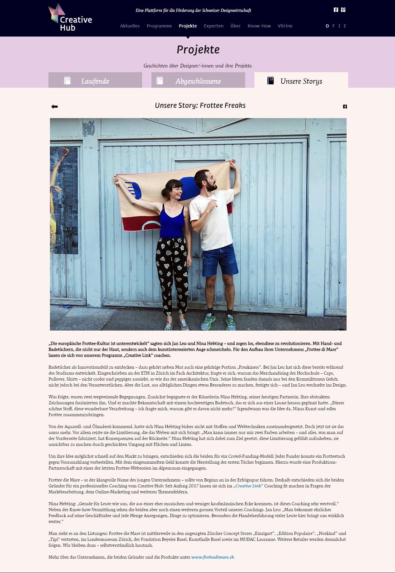 Creative Hub Newsletter No. 33 – Mai 2017