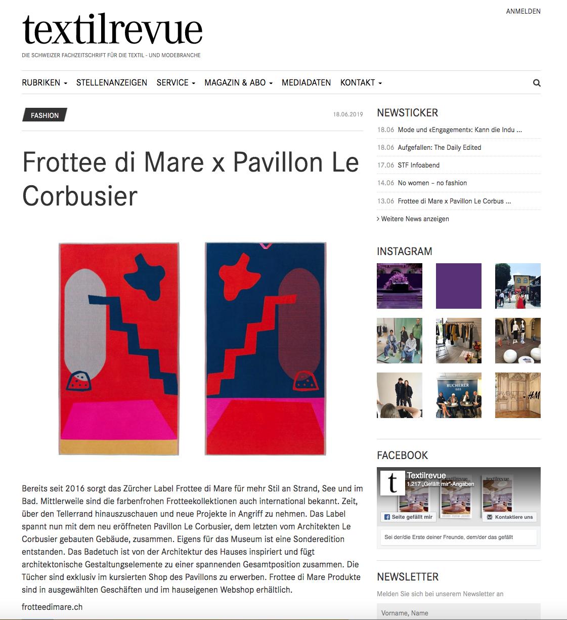 Textilrevue Online – 18.06.2019