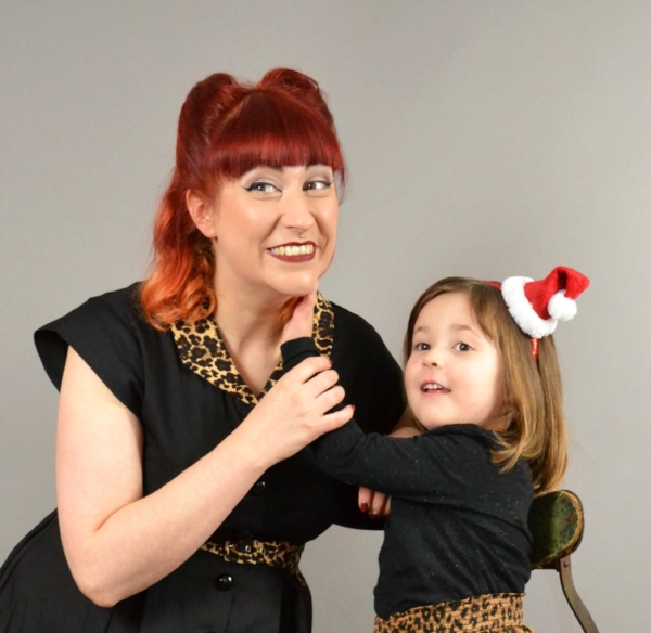 In front of the camera....for once...with Daisy, my daughter! Photo by Howie Johnson