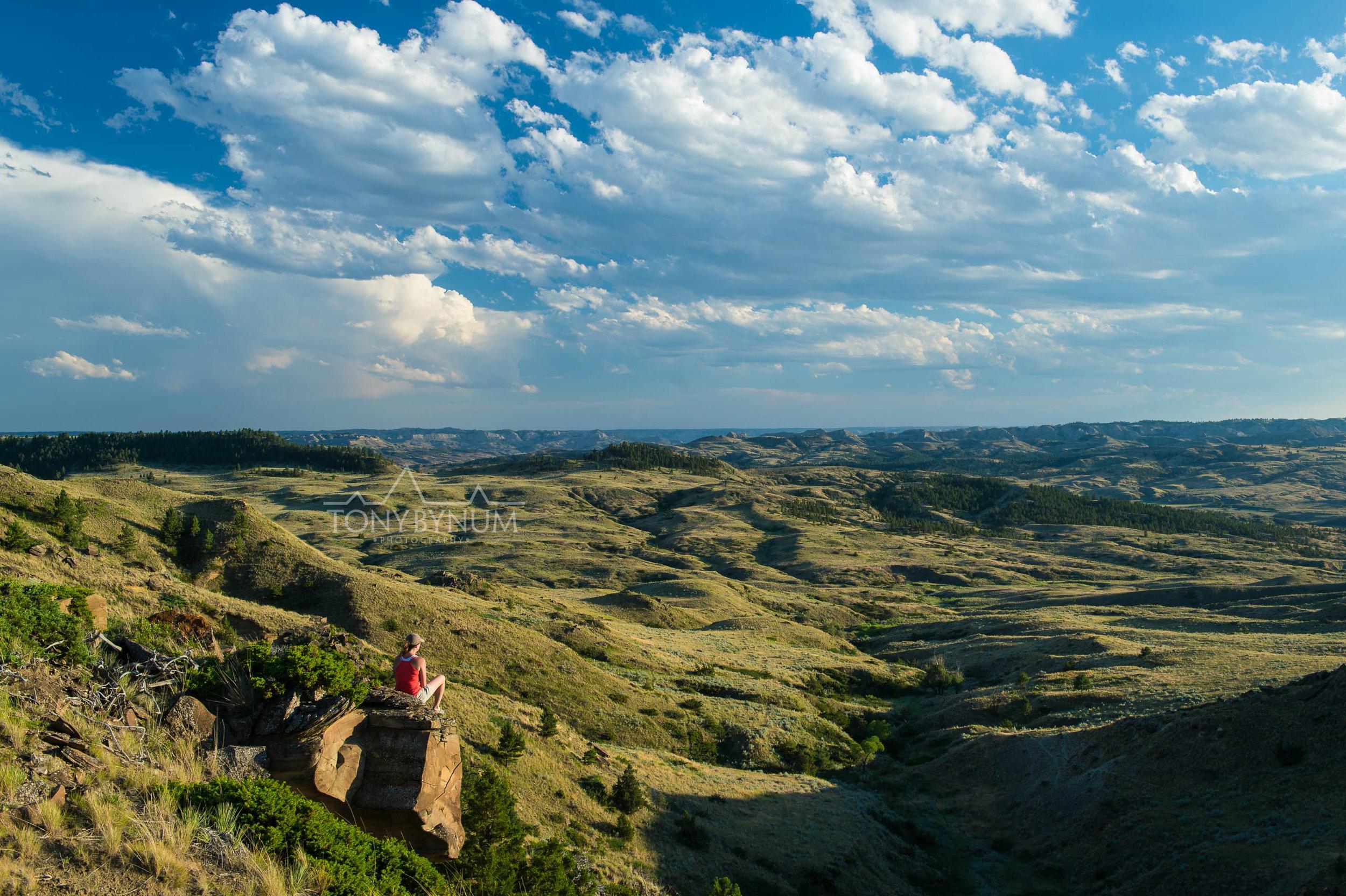 Woman on Montana Wild Prairie