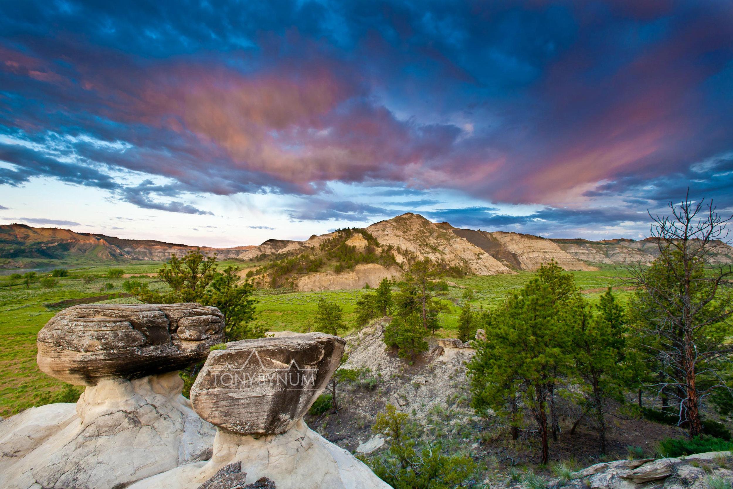clouds over wild Montana prairie