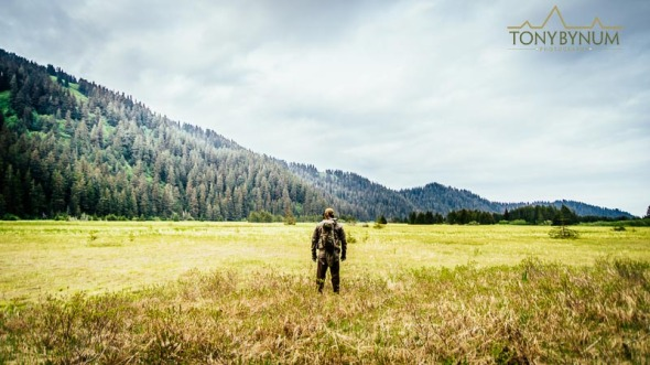 Hunting in Alaska, looking out into the open wilderness