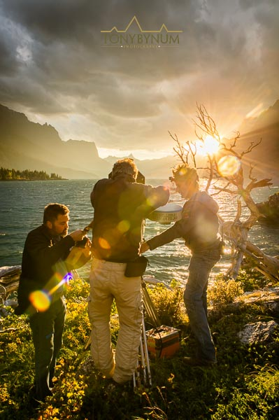 imax film crew filming national parks adventure imax movie in glacier national park