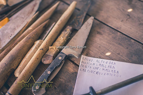 The skinner's list to keep track of the animal type, and how it should be skinned. La Pampa, Argentina ©tonybynum.com