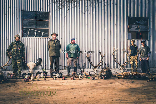 Skinners, and guides with a weeks worth of work. La Pampa, Argentina ©tonybynum.com