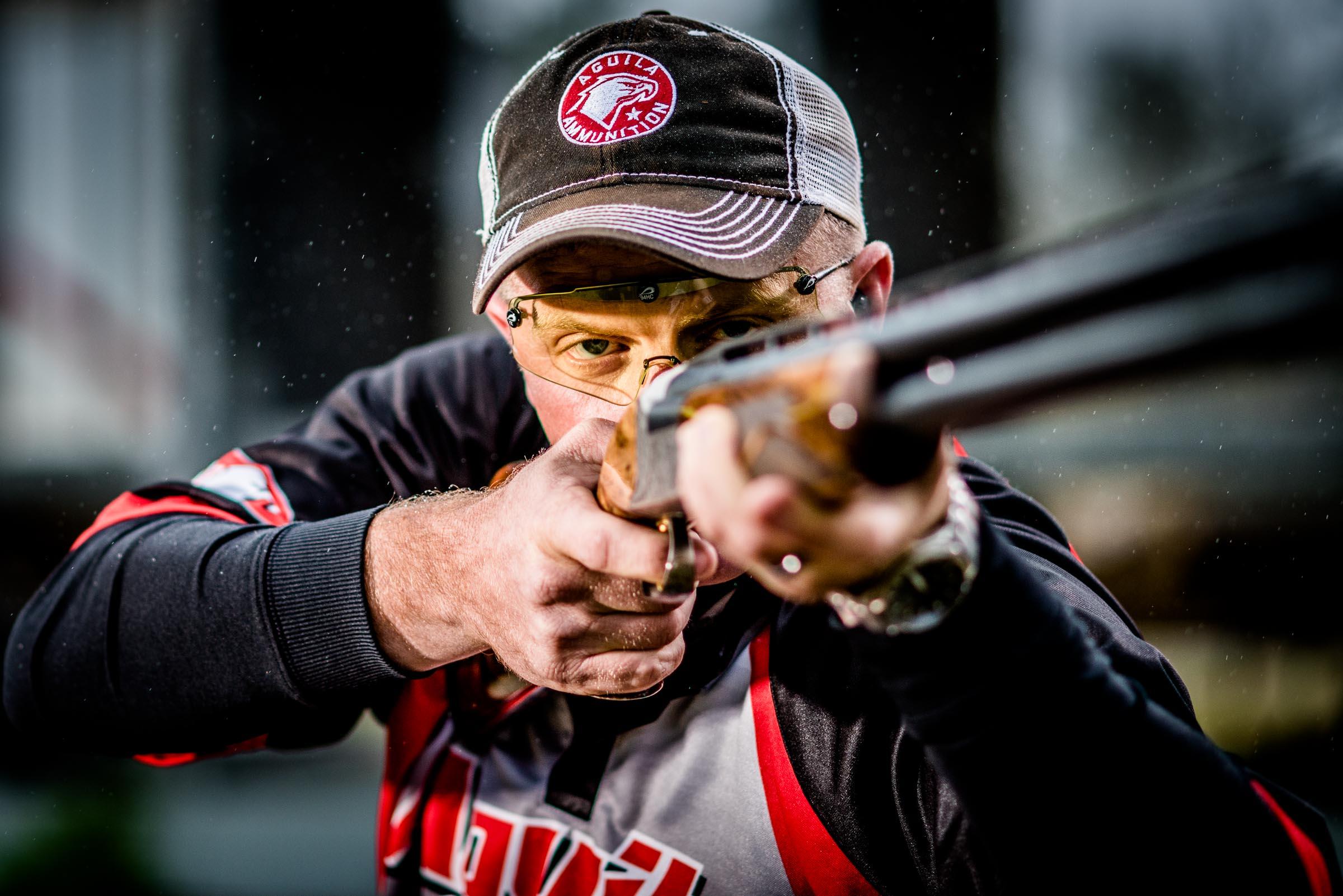 Aguila Ammunition professional shotgun shooter. © Tony Bynum