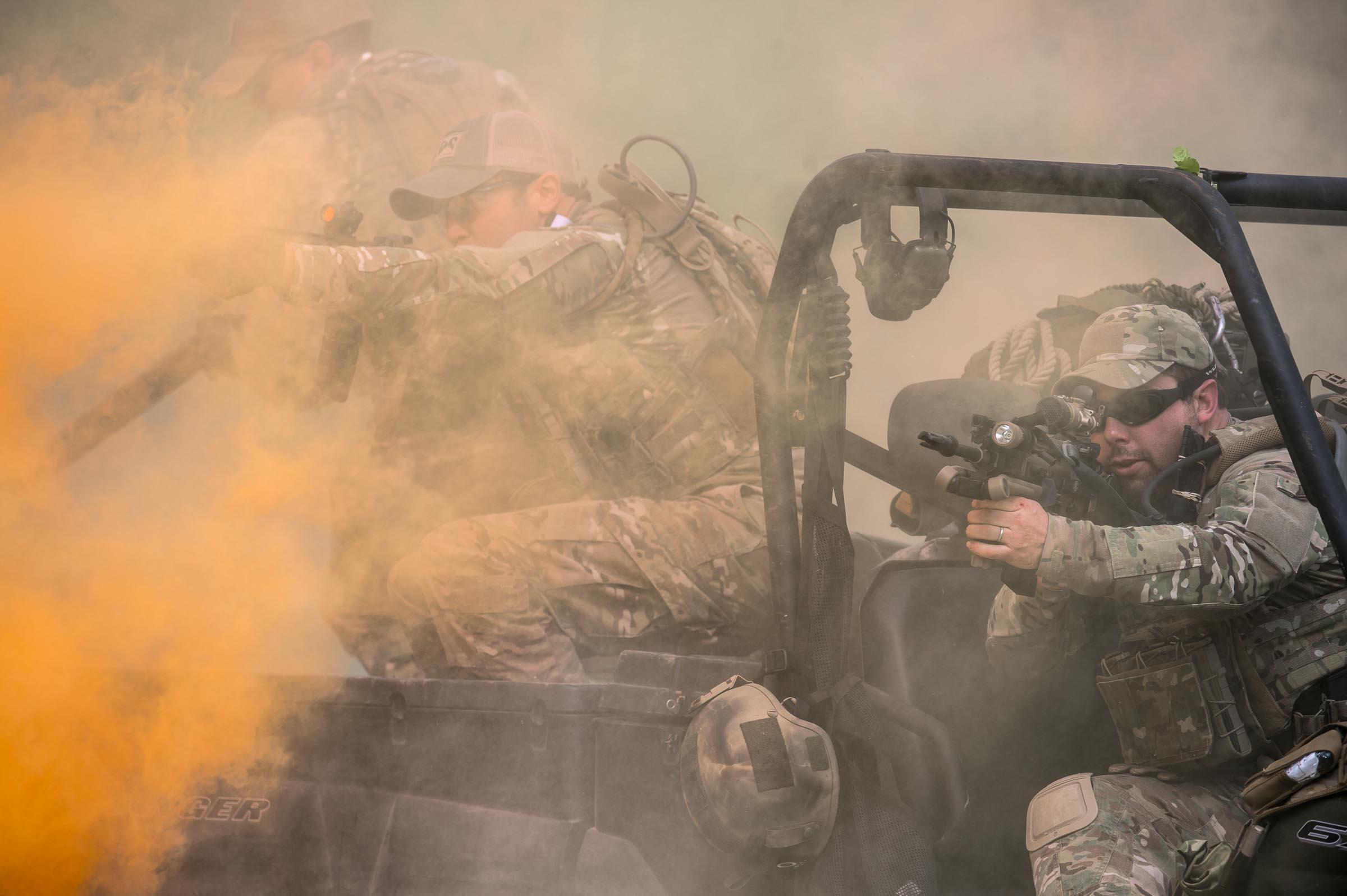 Tactical training with Sport Ear.  © Tony Bynum