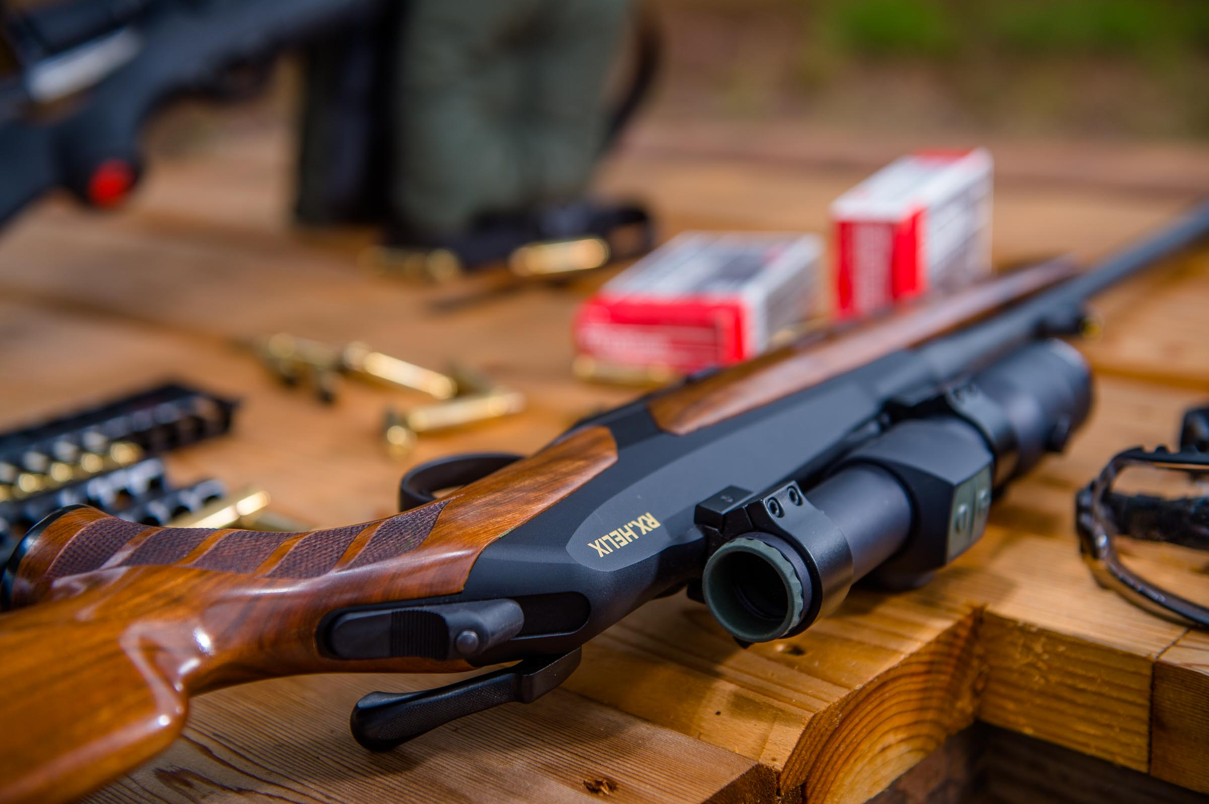 Merkel Helix in .308 caliber topped with an Aimpoint Hunter site. © Tony Bynum