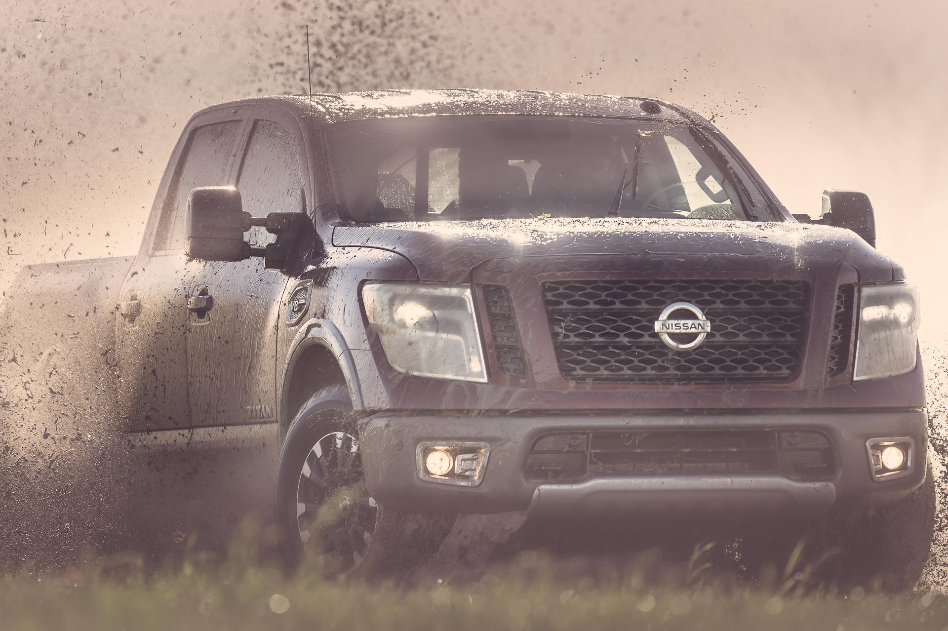 Nissan Titan in the mud. © Tony Bynum