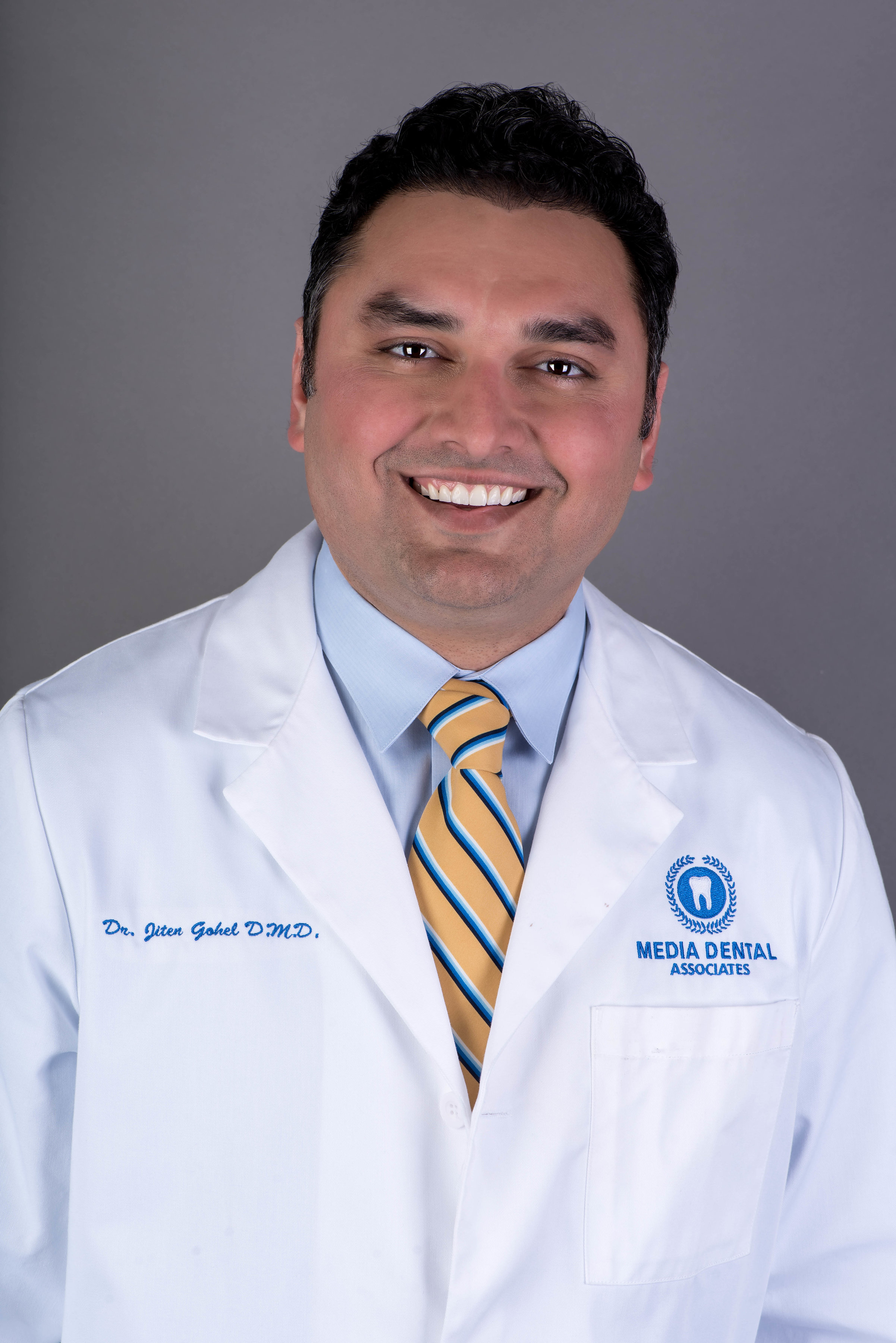 Meet Dr. Jay - Dr. Jiten P. Gohel (Dr. Jay), moved to Pennsylvania after graduating with High Honors from the Boston University Dental School. Upon graduation he was inducted into the Omicron Kappa Upsilon Honor Society and also received an award of Excellence from the Department of periodontology.
