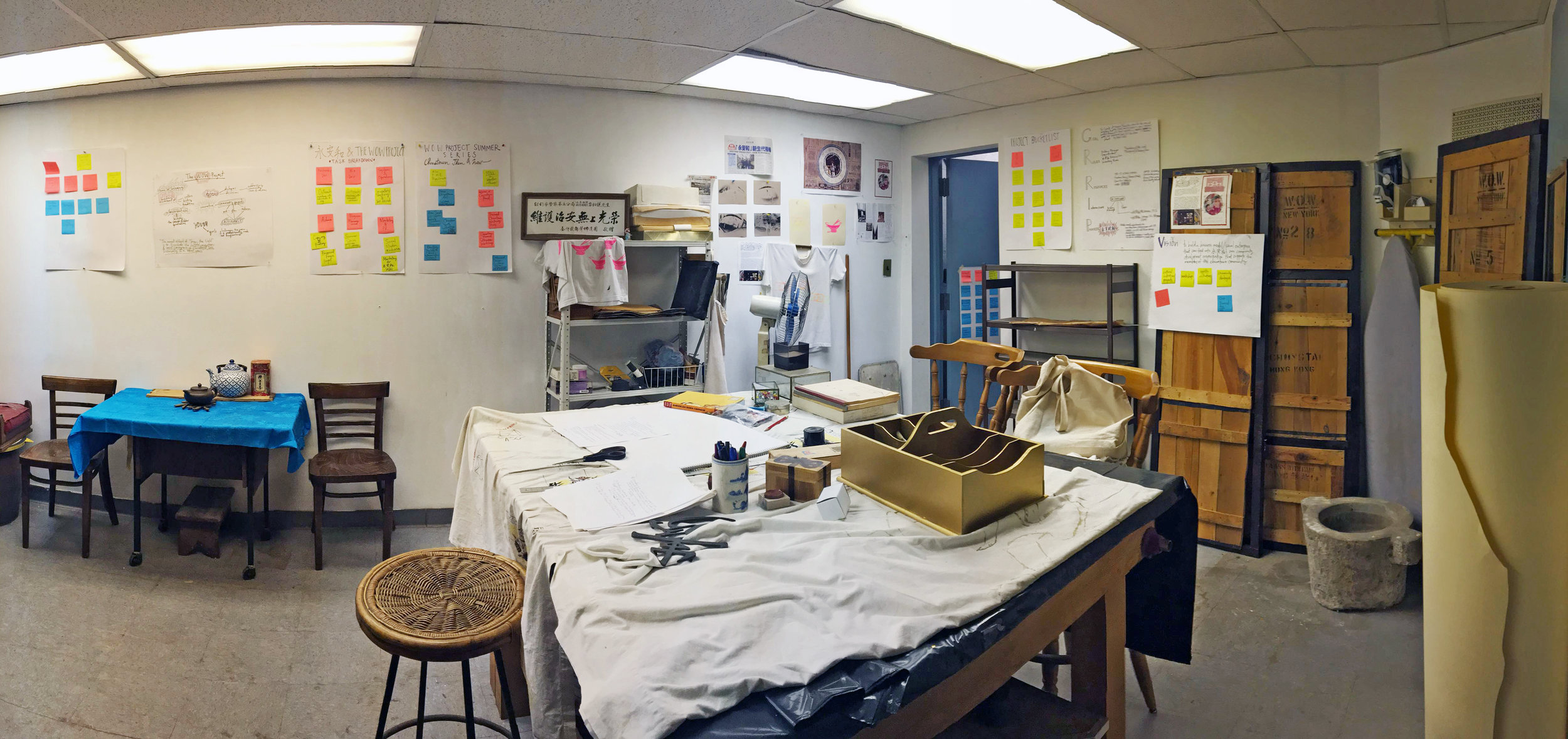 The screen printing studio at 26 Mott St.