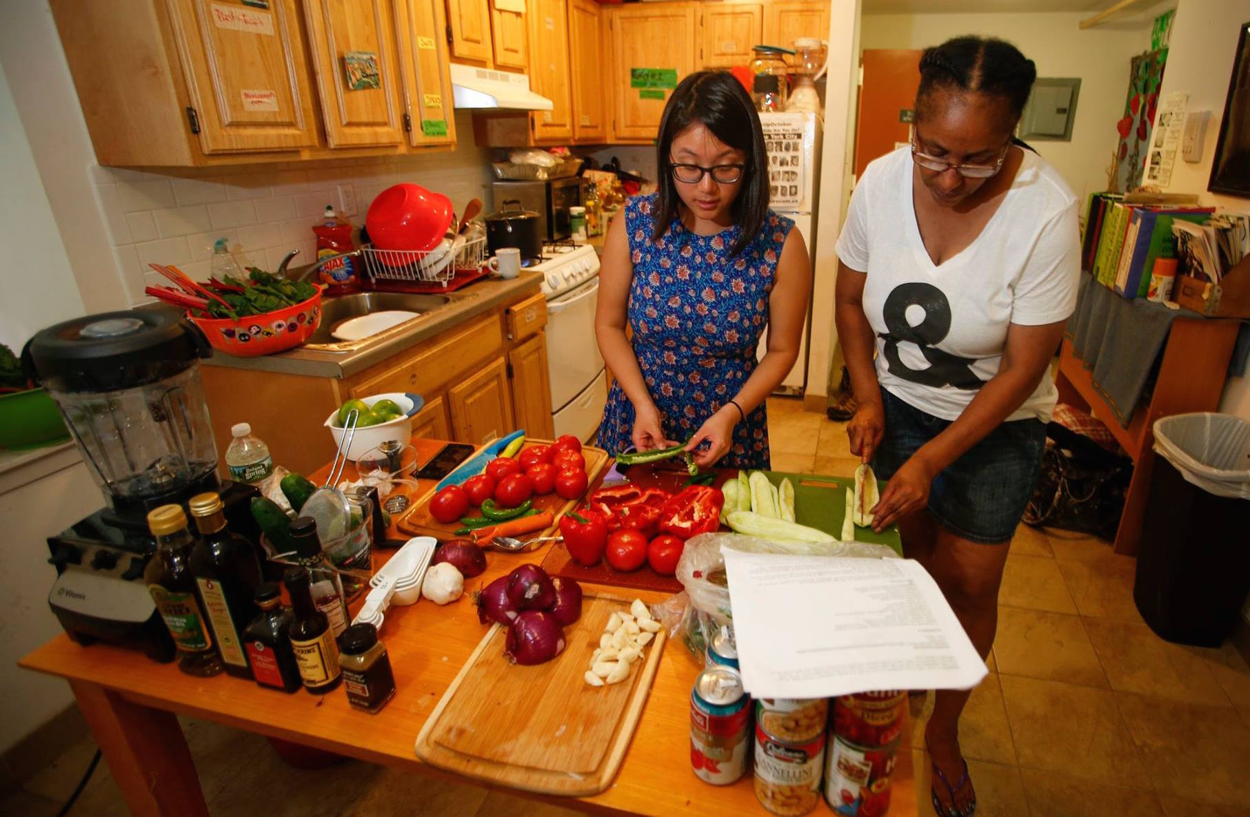"""Cooking Through the Diaspora"" ongoing work around identity, self-determination, and decolonization through cooking practices and the exploration of modern-day food culture. (photograph by Ricky Flores, 2016)"