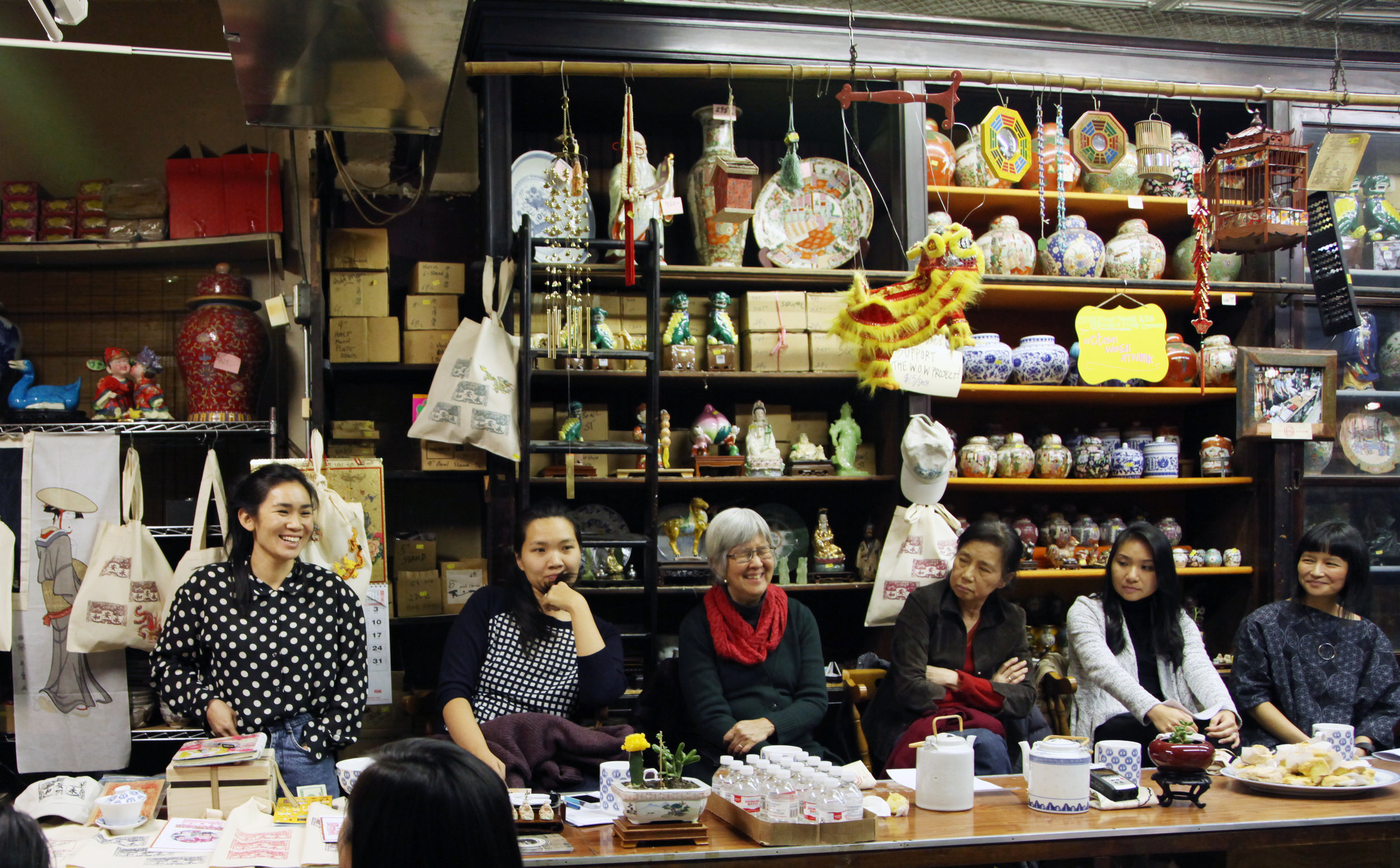 From left to right: Mei Lum, Lena Sze, May Ying Chen, Ching Yeh Chen, Sophia Ng & Cynthia Lee